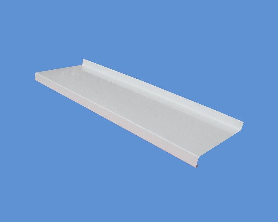 165 mm széles extrudált külső alumínium ablak párkány fehér RAL9016