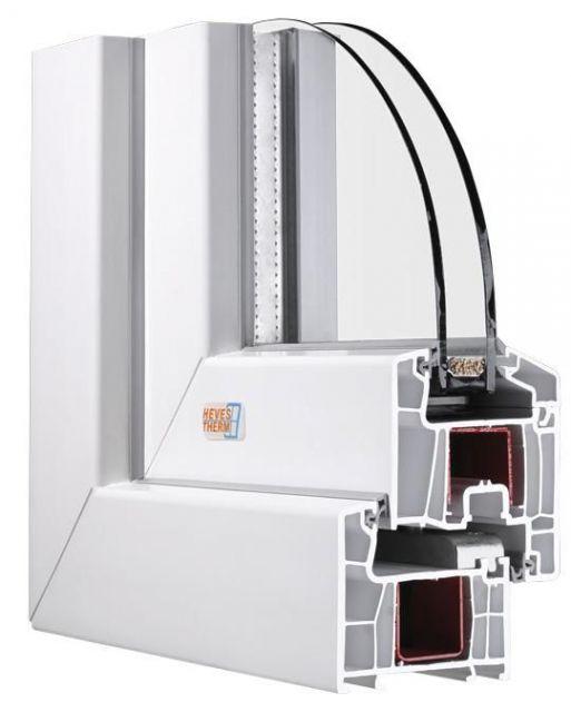 120x90 cm egyszárnyú fix fehér műanyag ablak