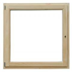120x120 cm egyszárnyú bukó nyíló lazúr festett borovi fenyő ablak