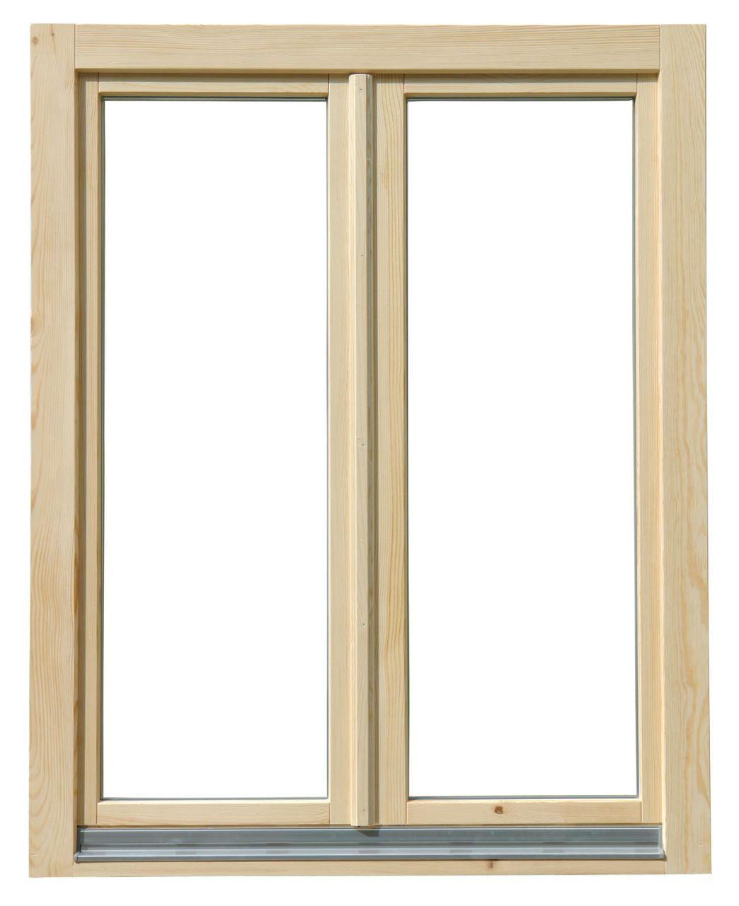 150x150 cm kétszárnyú középen nyíló-nyíló lazúr festett borovi fenyő ablak