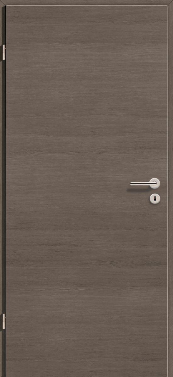 75x210 cm egyszárnyú dekorfóliás beltéri ajtó tele szín: Fenyő Szürke Cross DE44, 10-12 cm vtg. falba utólagszerelhető tokkal