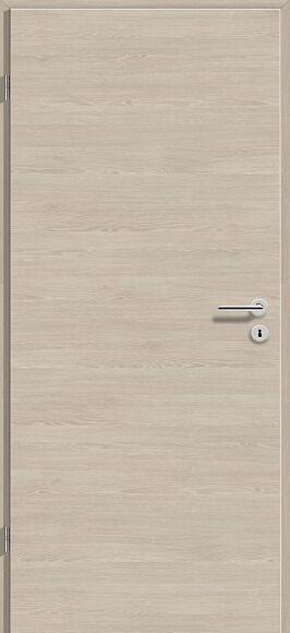 90x210 cm egyszárnyú dekorfóliás beltéri ajtó tele, szín: Platina Tölgy Cross DEC424, 10-12 cm vtg. falba utólagszerelhető tokkal