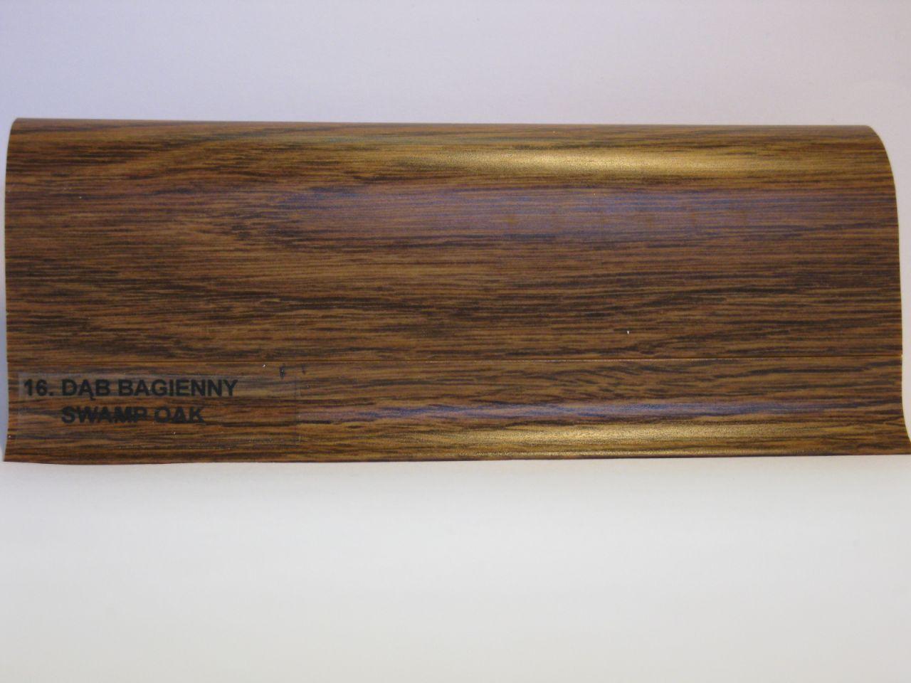 SALAG NG szegélyléc, mocsári tölgy, gumis szegéllyel NGF 56mm, hossz: 2,50m