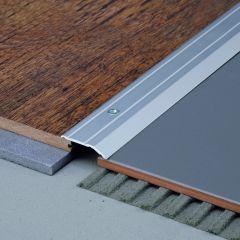 SALAG STRATUS 27 mm burkolatváltó profil hossz:0,91 méter eloxált ezüst