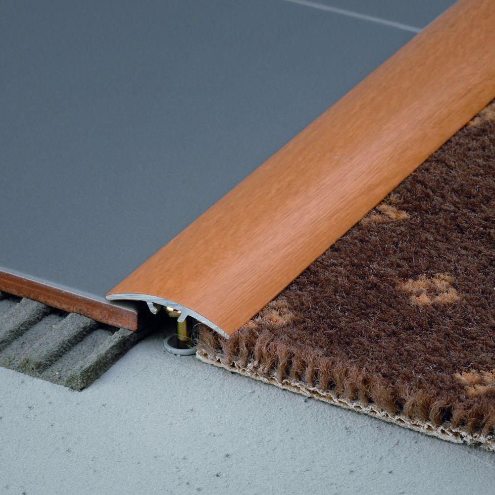 SALAG STRATUS 30 mm burkolatváltó profil hossz:0,91 m öntapadós eloxált arany