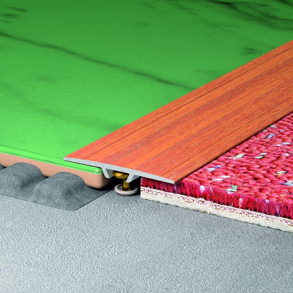 SALAG STRATUS 35 mm burkolatváltó profil hossz:0,91 m öntapadós eloxált ezüst