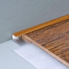 SALAG STRATUS 12 mm, vastag: 8,75 mm lezáró profil hossz:1,82 m  öntapadós eloxált ezüst