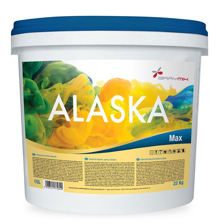 Alaska Max diszperziós falfesték matt fehér színben 15 literes