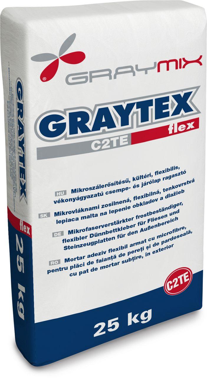 Graytex C2TE flexibilis fagyálló csemperagasztó 25 kg/zsák