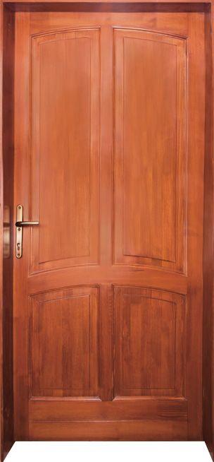 90x210 cm egyszárnyú borovi fenyő beltéri ajtó lazúr festett kivitelben tip:BT1