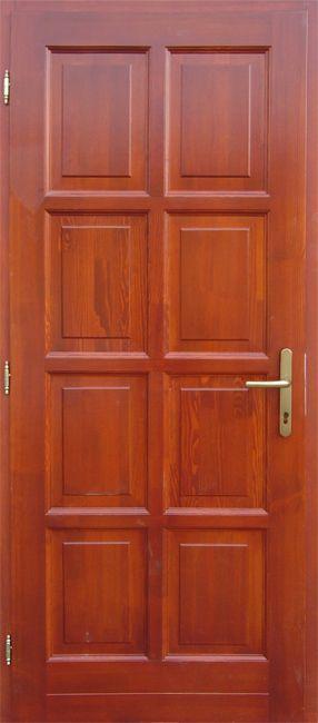 140x210 cm kétszárnyú szimmetrikus borovi fenyő beltéri ajtó lazúr festett kivitelben tip:BT4