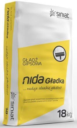 NIDA (Gladka) PERFEKT 3-6 mm, glettelő gipsz 20 kg/zsák